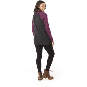 Smartwool Merino 250 Drape Neck Hoodie Women, charcoal heather